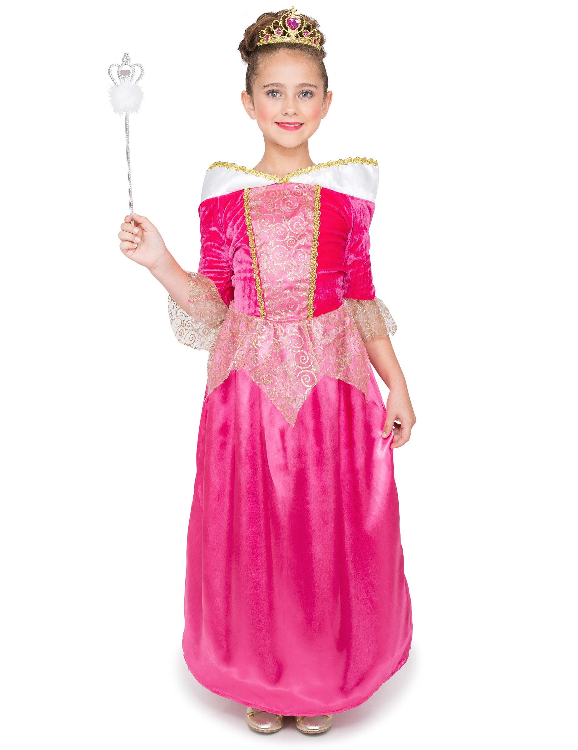 Pinkki prinsessamekko lapsille 8a9314893c