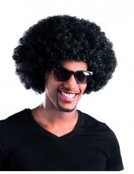 Musta afroperuukki/ klovnin peruukki aikuisille