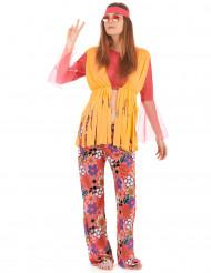 Värikäs hippiasu