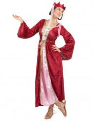 Keskiaikainen kuningatar -asu naisille