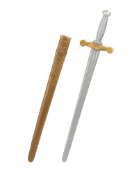 Muovinen keskiaikainen ratsusotilaan miekka