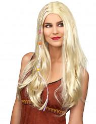 Vaalea hippiperuukki naisille