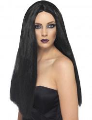 Naisten pitkä musta peruukki