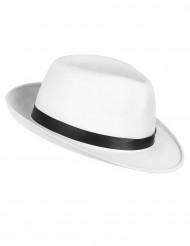 Valkoinen gangsterin hattu aikuisille