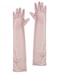 Pitkät vaaleanpunaiset hanskat lapselle