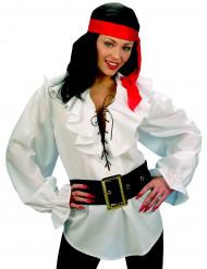 Valkoinen merirosvopaita naisille