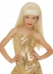 Lasten vaalea glamour-peruukki