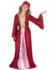 Keskiaikainen kuningatar -asu lapsille