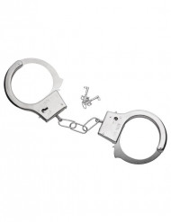 Metalliset käsiraudat ja avaimet