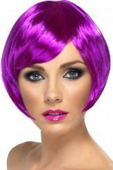 Lyhyt violetti peruukki aikuisille