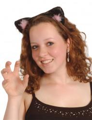 Musta/vaaleanpuaniset kissan korvat