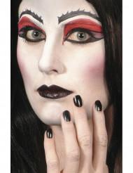 Musta kynsilakka ja huulipuna Halloween