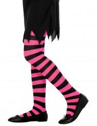 Vaaleanpunamusta raidalliset sukkahousut lapselle