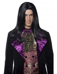 Musta pitkä peruukki