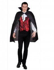 Vampyyrin musta viitta aikuiselle 120 cm halloween
