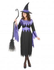 Lila lentäjä - Naisten Halloween-noidan asu