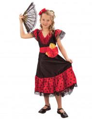 Espanjalaisen tanssijattaren naamiaisasu tytölle