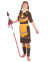 Lasten intiaaniasu keltaisilla yksityiskohdilla