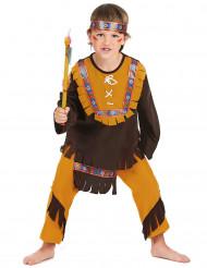 Intiaani värikkäilla reuna-koristeilla - Naamiaisasu lapsille