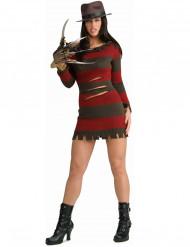 Naisten naamiaisasu Freddy Krueger - Painajainen Elm Streetillä™