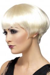 Naisen vaalea, lyhyt 20-luvun peruukki