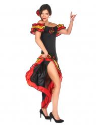 Flamencotanssijattaren naamiaisasu aikuiselle