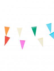 Värikäs lippunauha, paperinen, 10 m