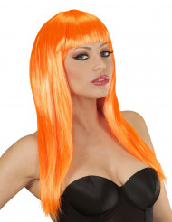 Oranssi pitkä peruukki
