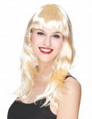 Blondi peruukki otsotukalla