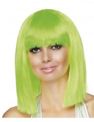 Vaaleanvihreä peruukki aikuisille