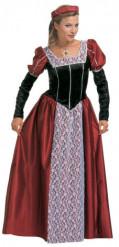 Keskiaikainen prinsessa -asu naisille