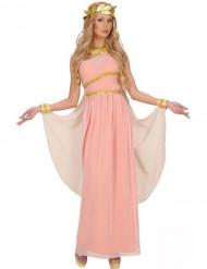 Vaaleanpunainen kreikkalaisen jumalattaren asu