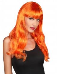 Oranssi peruukki otsotukalla