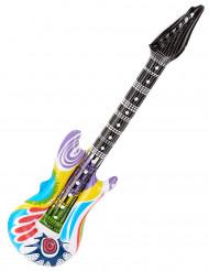 Monivärinen puhallettava rock-kitara