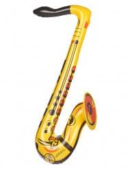 Puhallettava keltainen saksofoni