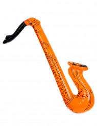 Oranssi puhallettava saksofoni