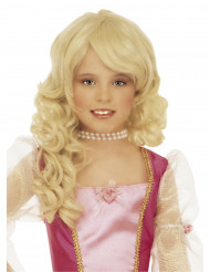 Lasten vaalea prinsessan peruukki