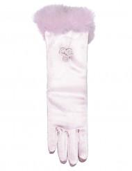 Vaaleanpunaiset prinsessan hansikkaat