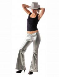Hopean hohtavat discohousut naiselle