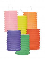 12 värikästä paperilyhtyä