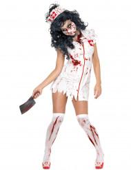 Naisten Halloween asu Zombisairaanhoitaja