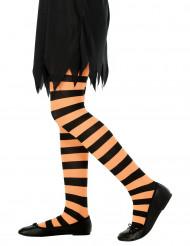 Lasten sukkahousut, oranssi/musta