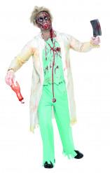 Aikuisten Zombi lääkärinasu Halloween