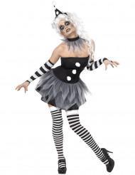Naisen Pierrot-hahmon naamiaisasu
