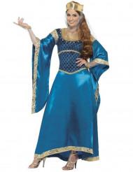 Keskiaikainen kuningatar naamiaisasu naiselle