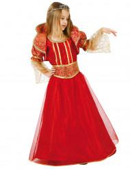 Punakultainen kuningattaren puku lapsille