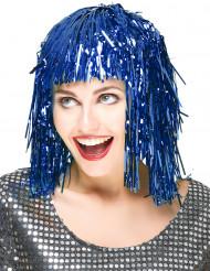 Aikuisten peruukki Metallinen sininen