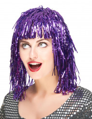 Aikuisten peruukki Metallinen violetti