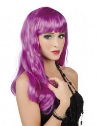 Pitkä violetti peruukki