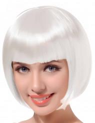 Lyhyt valkoinen peruukki